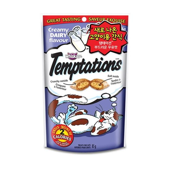 템테이션 고양이 간식 어덜트 우유 85g